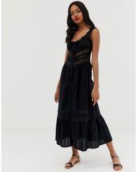 RahiCali Rahi Topanga Lace Midi Dress - Black