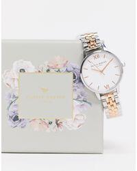 Olivia Burton - Часы С Белым Циферблатом И Браслетом Из Металла Разных Цветов -серебристый - Lyst