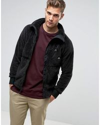 Penfield Chaqueta de polar estilo peluche negra con cremallera completa Breakheart - Negro