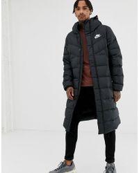 Nike - Down Parka Jacket In Black Aa8853-010 - Lyst