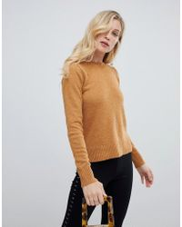 Oasis - Rib Shoulder Crew Neck Sweater - Lyst
