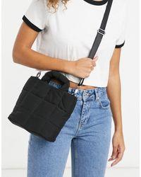 Pull&Bear Padded Shopper Bag With Detachable Strap - Black