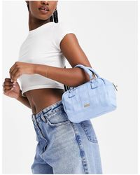 Skinnydip London Alice Check Quilted Cross Boy Bag - Blue