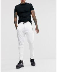 Bershka Joggers gaufré en jersey - Blanc