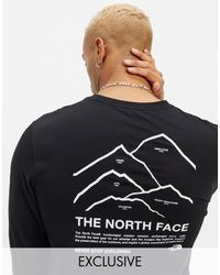 The North Face Черный Лонгслив Peaks – Эксклюзивно Для Asos