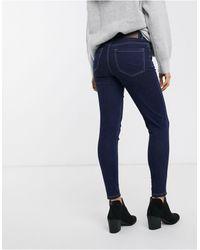 Pieces Jamie High Waist Ankle Grazer Skinny Jeans - Blue