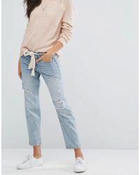 Abercrombie & Fitch - Destroyed Boyfriend Jeans - Lyst