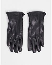 Jack & Jones – Handschuhe aus Kunstleder - Schwarz
