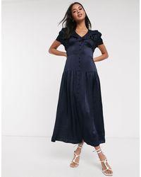 Ghost Quinn Dress - Blue