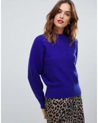 Y.A.S Rib Knitted Sweater - Blue