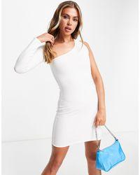 Public Desire Asymmetric Mini Dress - White