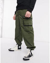 ASOS Wide Leg Utility Trousers - Green