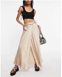 TOPSHOP Waterfall Skirt - Multicolour