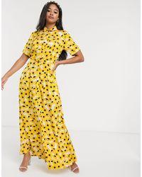 FABIENNE CHAPOT Mia Maxi Dress Yellow