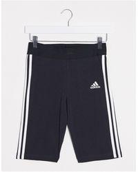 adidas Originals Черные Леггинсы-шорты С Тремя Полосками Adidas Training-черный