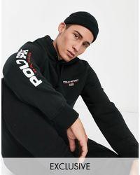 Polo Ralph Lauren Sport - Hoodie Met Logo Op - Zwart
