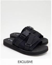 New Look Sandalias negras híbridas sin cierres - Negro