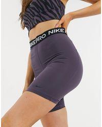Nike Шорты-леггинсы С Завышенной Талией Длиной 7 Дюймов -серый