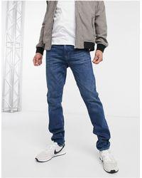 Emporio Armani J06 - Slim-fit Jeans Met Lichte Wassing - Blauw