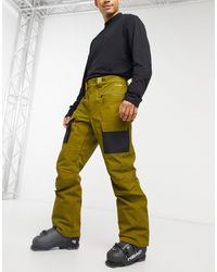 The North Face Slashback Cargo Ski Pant - Green