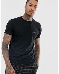 BOSS Athleisure Camiseta negra con logo en la parte delantera y la parte posterior - Negro
