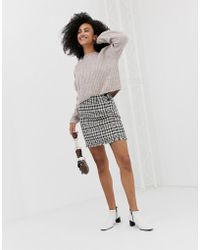 Warehouse - Dogstooth Skirt In Multi - Lyst