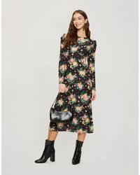 Miss Selfridge Midi Tea Dress - Black