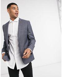 Farah - Grey Check Slim Fit Suit Jacket - Lyst