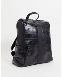 Dune - Черный Комбинированный Рюкзак Из Искусственной Кожи Под Крокодила Dalice-черный Цвет - Lyst