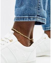 Classics 77 Plaited Anklet - White