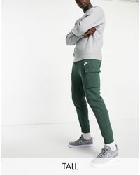 Nike Tall Club Cuffed Cargo joggers - Green