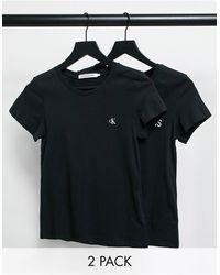 Calvin Klein Calvin Klein 2 Pack Tee - Black