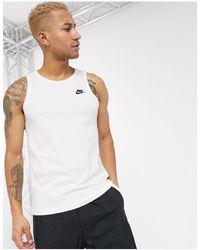 Nike – Club – Trägershirt mit Logo - Weiß