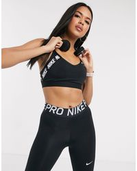 Nike Indy Bra With Logo Taping - Black