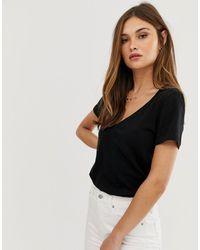 J.Crew Mercantile Classic Black V-neck T-shirt