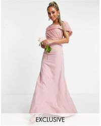 Missguided Vestido color rubor palabra - Rosa