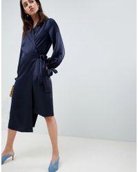 ASOS - Midi Wrap Dress - Lyst