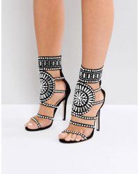 Public Desire - Cleopatra Embellished Heeled Sandals - Lyst