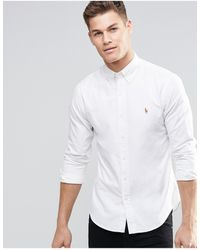 Polo Ralph Lauren Camicia Oxford slim bianca - Bianco