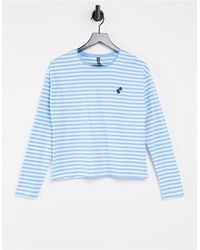 Pieces Camiseta azul a rayas