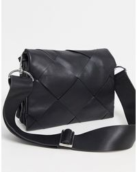 & Other Stories Leather Large Braided Bag - Black