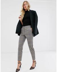 Y.A.S Check Slim Trousers - Multicolour