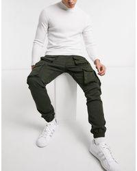 Good For Nothing Pantalon cargo avec poches fonctionnelles - Kaki - Vert
