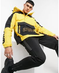 Pull&Bear Черно-желтая Куртка Без Застежки -желтый