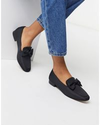 ASOS Mable Bow Loafers - Black