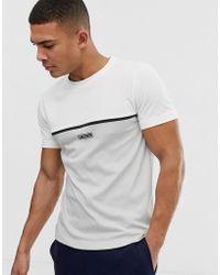 Lacoste Sport T-shirt colour block bianca con logo - Bianco