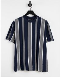 ASOS T-shirt comoda a righe - Blu