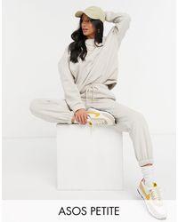 ASOS Asos Design Petite - Trainingspak Met Oversized Sweater / Oversized joggingbroek - Meerkleurig