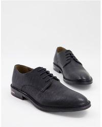 Walk London Черные Туфли Дерби Из Фактурной Кожи Oliver-черный Цвет