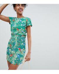 Monki - Beach Skirt In Parrot Print - Lyst